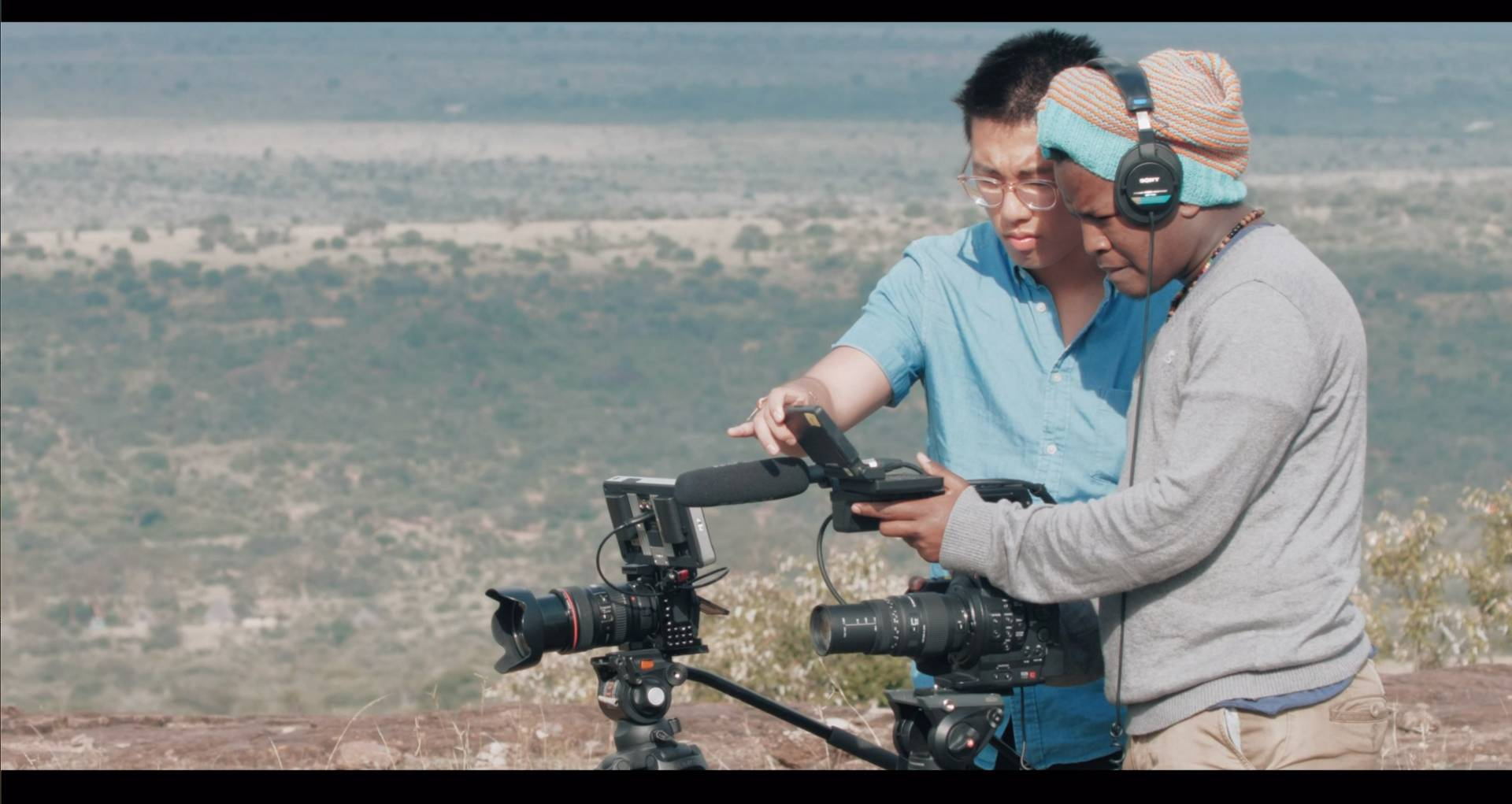 """Students in the Global Seminar """"Documentary Filmmaking in Kenya: Visual Storytelling on Wildlife and Wildlands Conservation"""" made five short films as part of the summer course based at the Mpala Research Centre. Video still by Nicolas Chae, Ingrid Koester, Maende J, and Lauren Olson"""