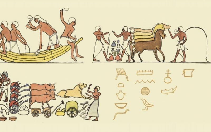 Detail from cover of Otto Neurath, From Hieroglyphics to Isotype. © University of Reading /Courtesy of Perpensa Press