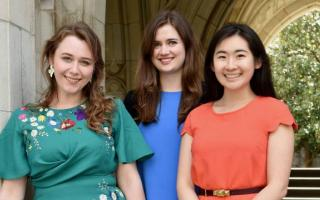Princeton University seniors Lavinia Liang, Katie Tyler and Erika Ward have been awarded the Henry Richardson Labouisse '26 Prize to pursue international civic engagement projects for one year following graduation.  Photo by Mark Czajkowski