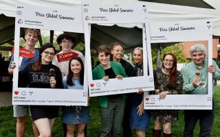 On Wednesday, May 8, undergraduate students participating in one of nine 2019 PIIRS Global Seminars gathered on the lawn outside the Louis A. Simpson International Building for the inaugural pre-departure barbecue. Departing students met with faculty leaders, and enjoyed giveaways, prizes and food.