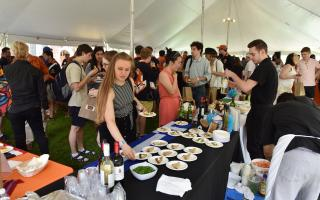 "Approximately 500 alumni and guests celebrated at Princeton Institute for International and Regional Studies' ""Beers with PIIRS"" event at Reunions 2019. Photo by Mark Czajkowski"