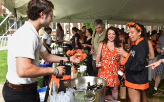 "Approximately 500 alumni and guests celebrated at Princeton Institute for International and Regional Studies' ""Beers with PIIRS' event at Reunions 2018.  Photo by Mark Czajkowski"