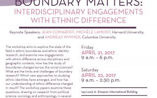 Conference on Boundary Matters: Interdisciplinary Engagements with Ethnic Difference