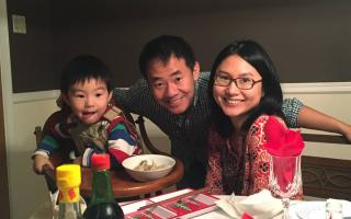 Princeton graduate student Xiyue Wang, shown here with his wife and their young son before he was detained in Iran in 2016. Photo courtesy of Hua Qu