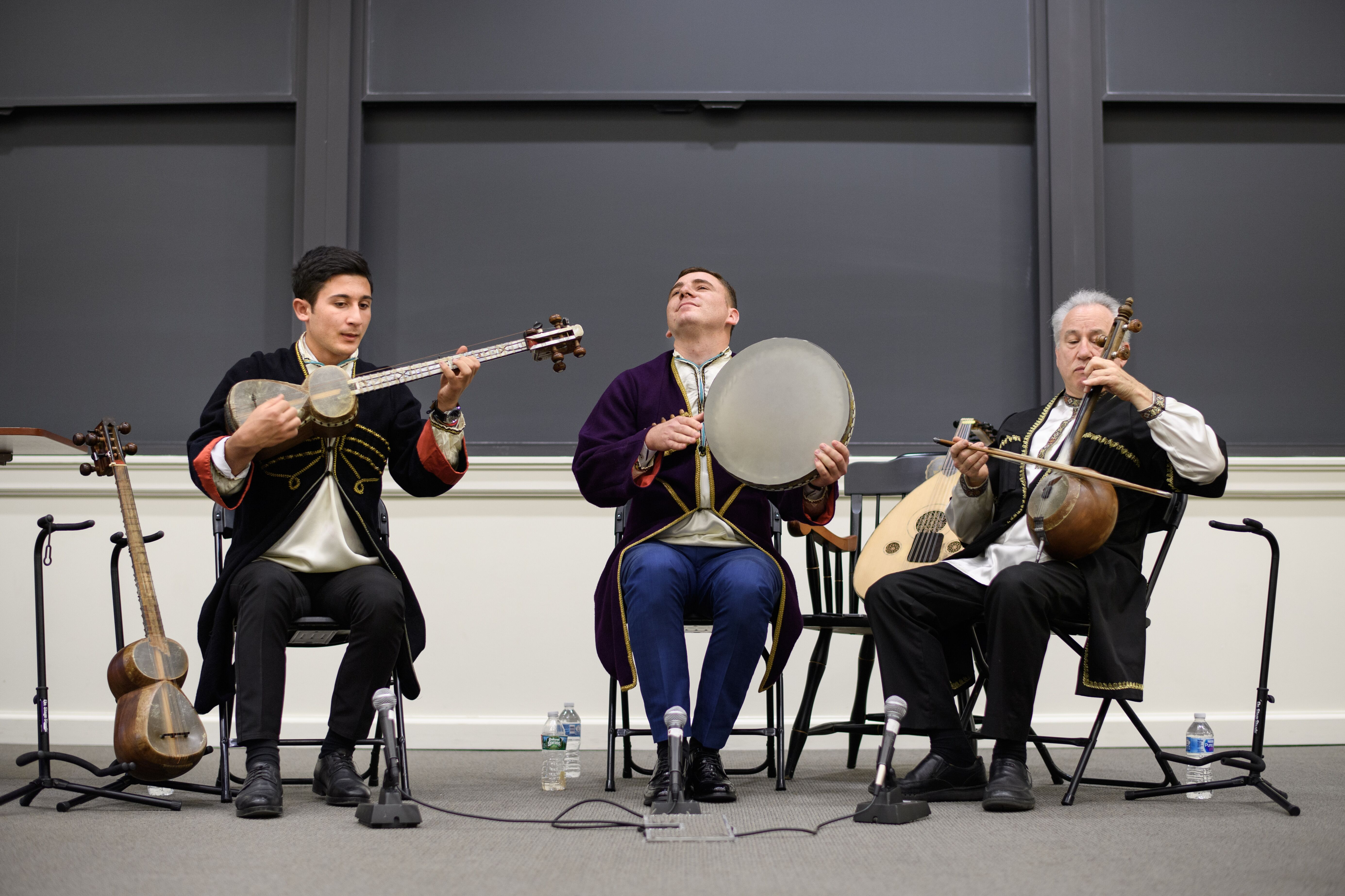 """On Wednesday, May 1, the Program in Russian, East European and Eurasian Studies (REEES) showcased """"Music of the Middle East and Eurasia: A Presentation and Performance of Azerbaijani Mugam."""" Photo by Sameer A. Khan/Fotobuddy"""