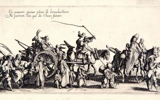 Jacques Callot, French, 1592–1635. Bohemians on the March: The Rear Guard, 1621. Etching and engraving. Princeton University Art Museum. Bequest of Junius S. Morgan, Class of 1888 (x1934-138) Photo courtesy of the Princeton University Art Museum